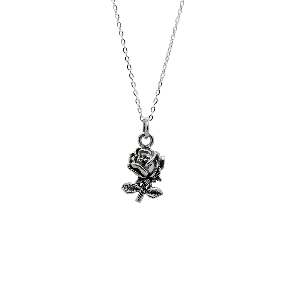 Sterling Silver Rose Necklace