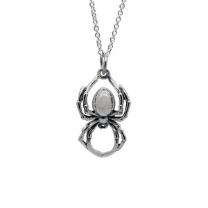 Sterling Silver Spider Necklace