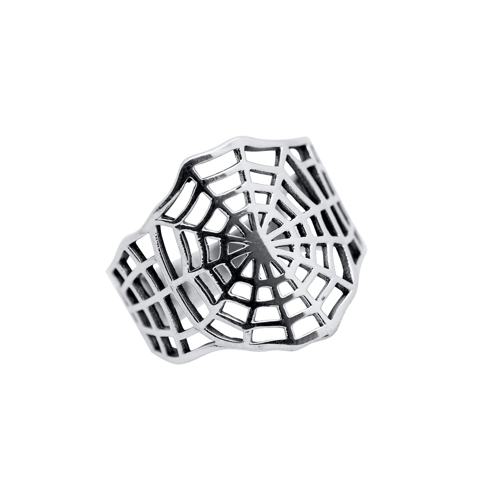 Sterling Silver Cobweb Ring