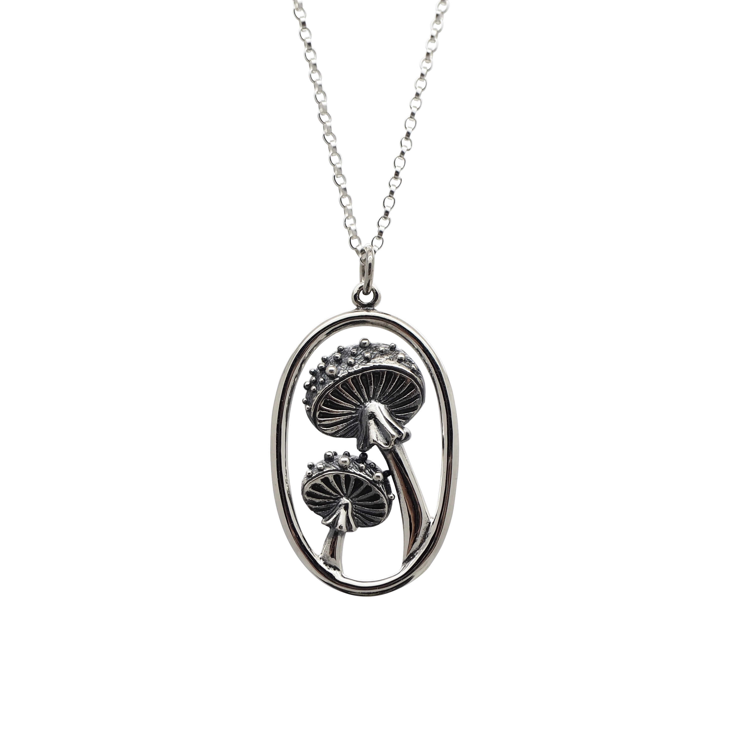 Sterling Silver Forest Witch Toadstool Necklace