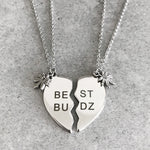 'Best Budz' Friendship Necklace Set