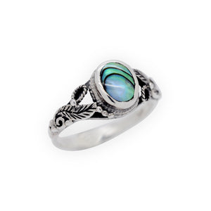 Sterling Silver Mother Of Pearl Ocean Ring