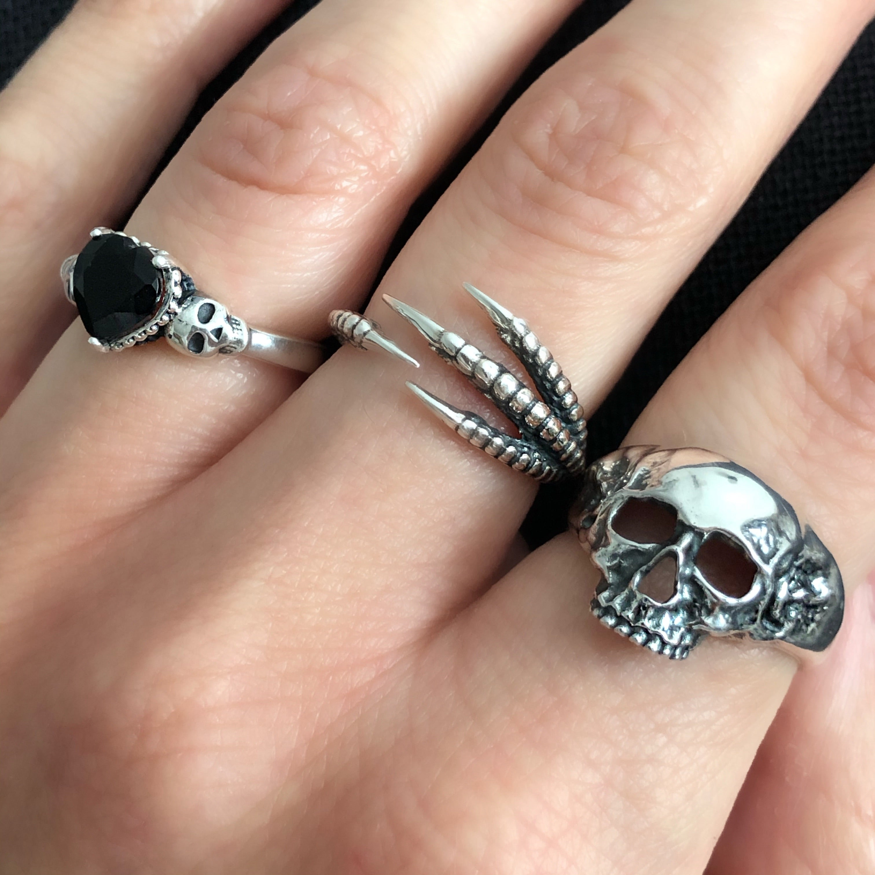 Sterling Silver Skully Ring
