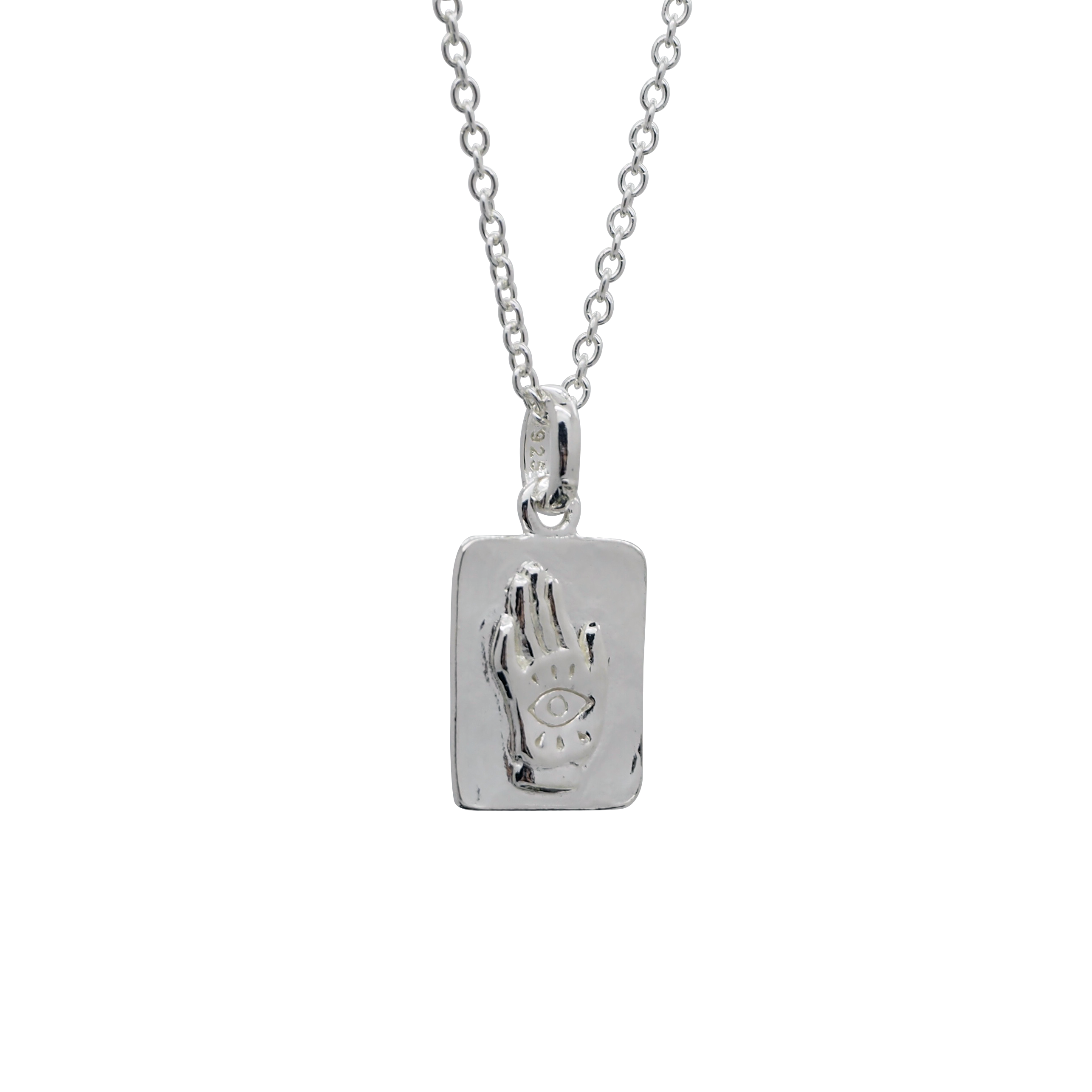 Sterling Silver Palm Reader Necklace