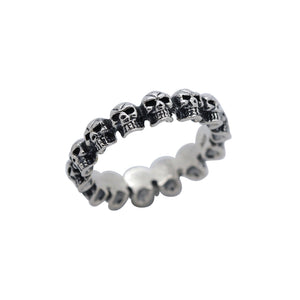 Sterling Silver Skull Band