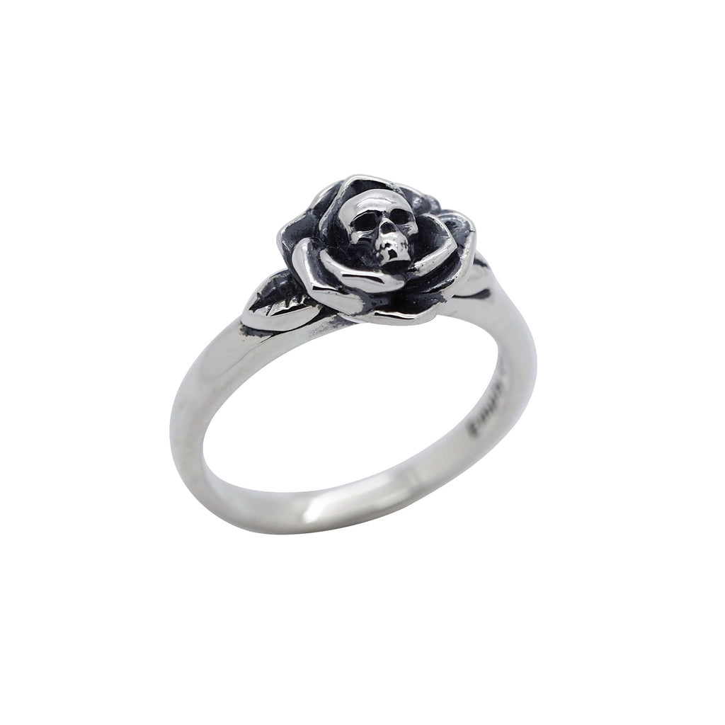 Sterling Silver Deathly Rose Ring (new)