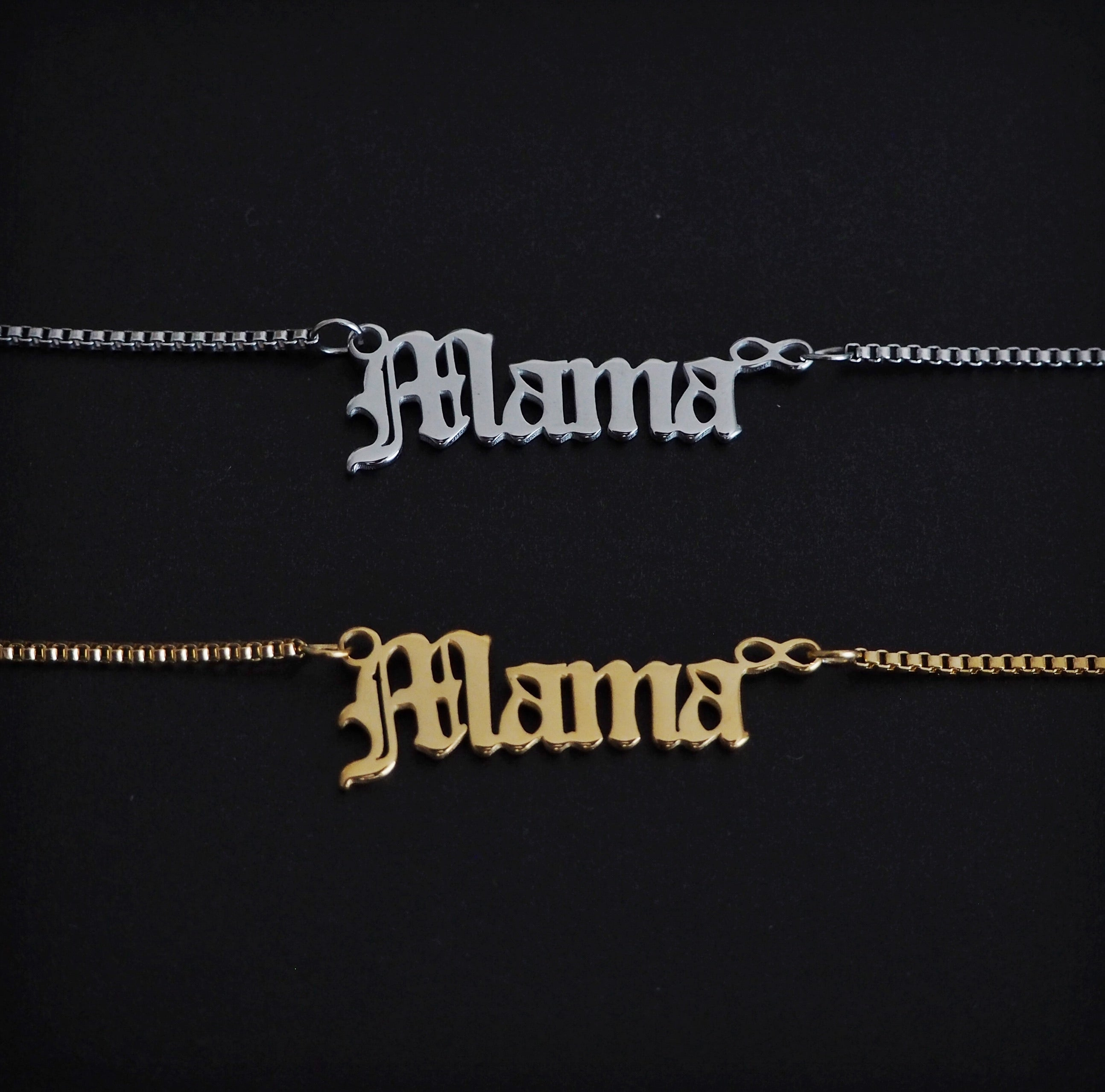 SAMPLE SALE 'Mama' Script Necklace