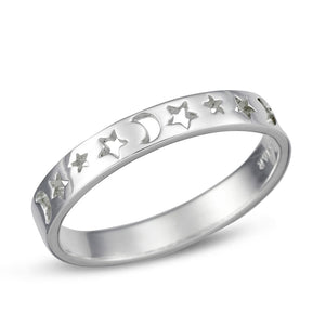 Sterling Silver Star Phase Ring