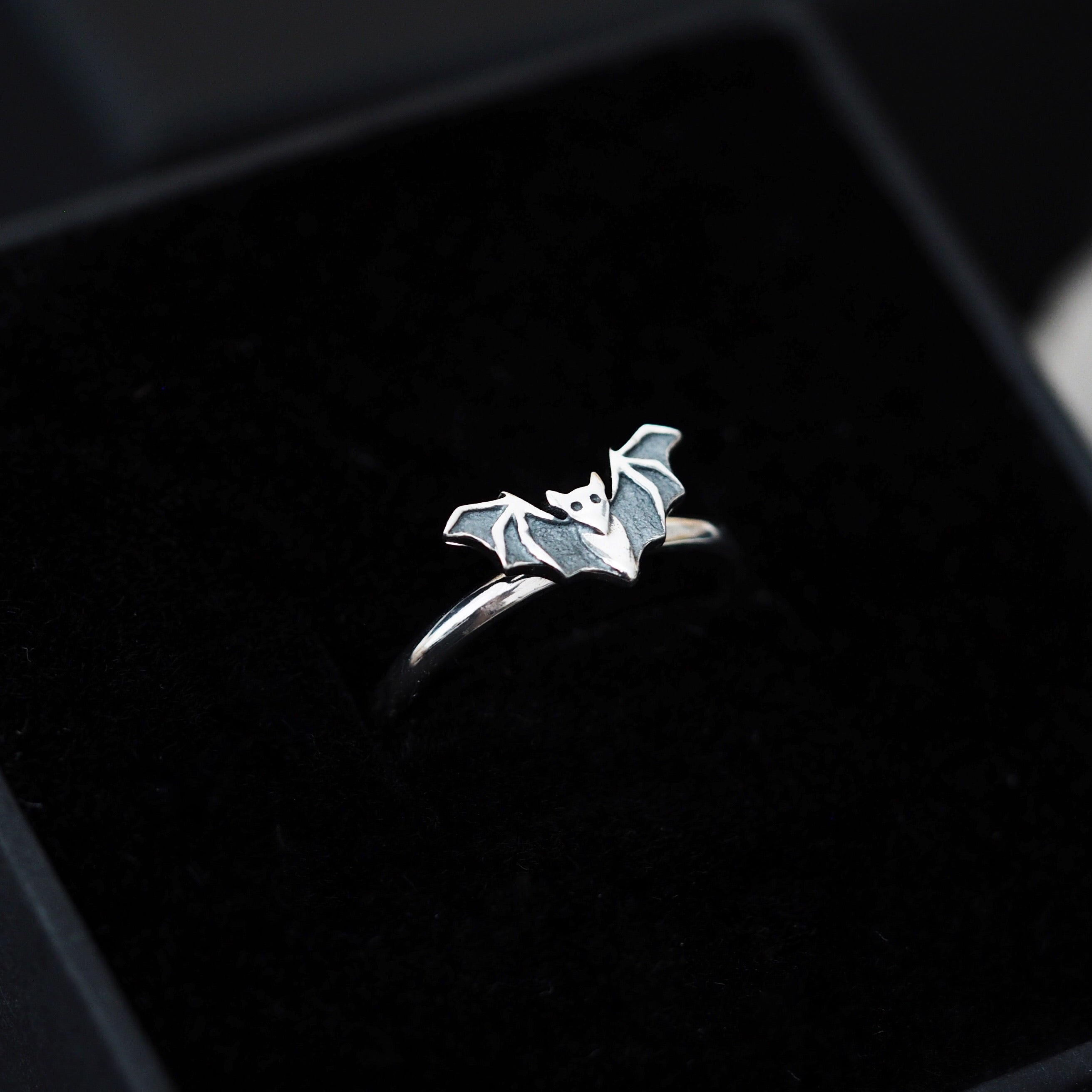 Sterling Silver Little Bat Ring