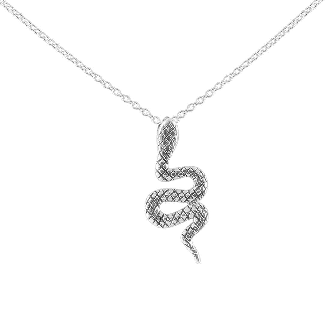 Sterling Silver Divine Serpent Necklace