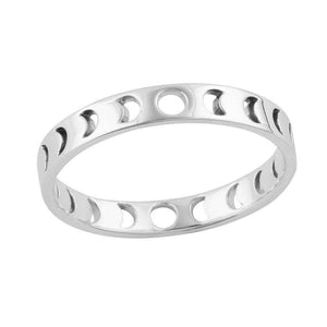 Sterling Silver All The Phases Ring