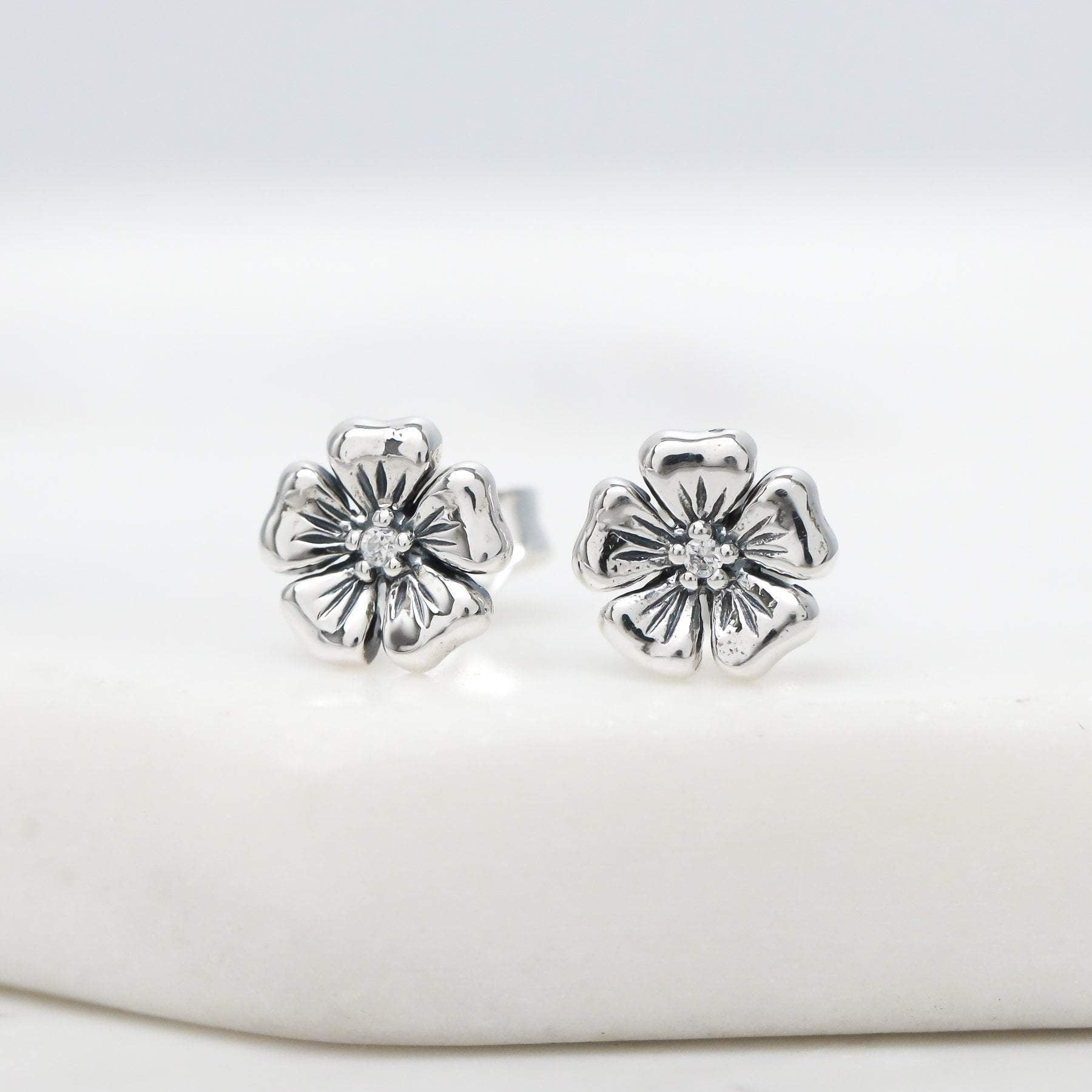 Sterling Silver Dioscuri Studs