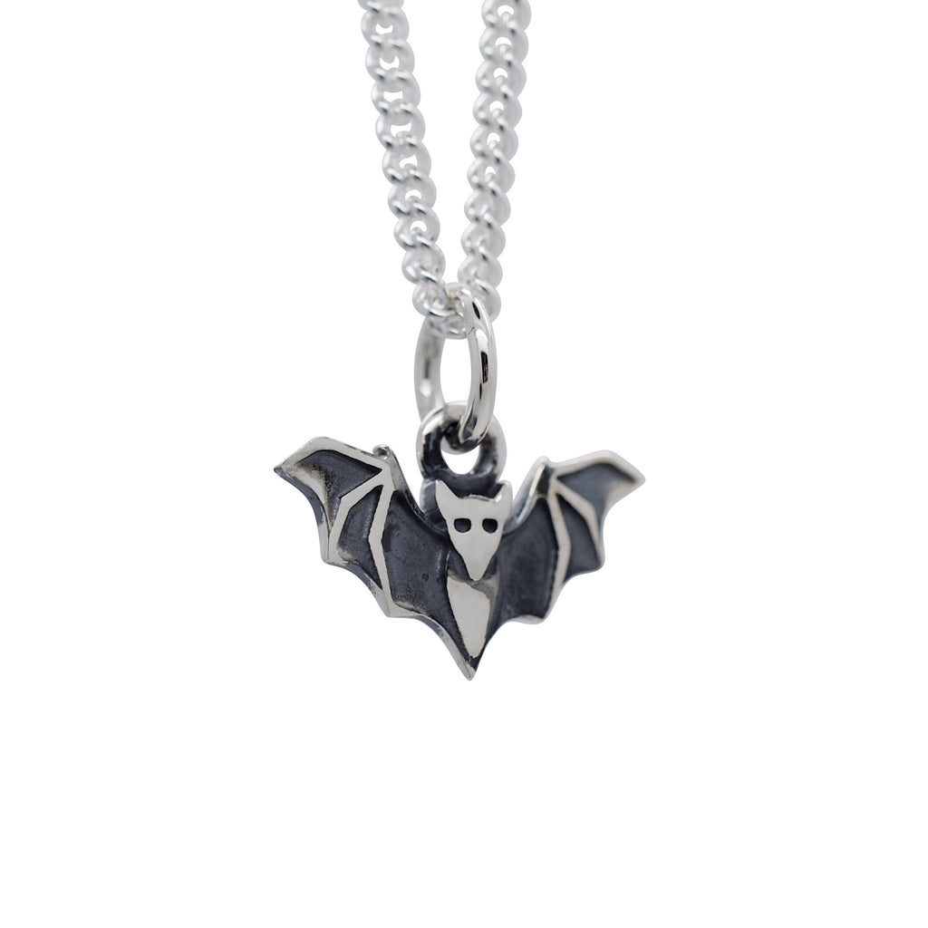 Sterling Silver Little Bat Necklace