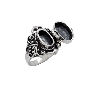 Sterling Silver Victorian Poison Ring