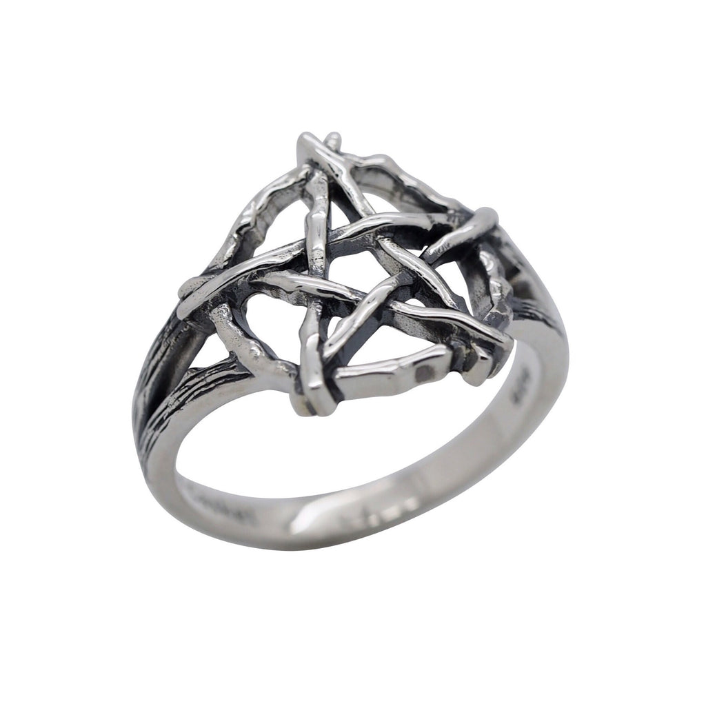 Sterling Silver Pentagram Ring