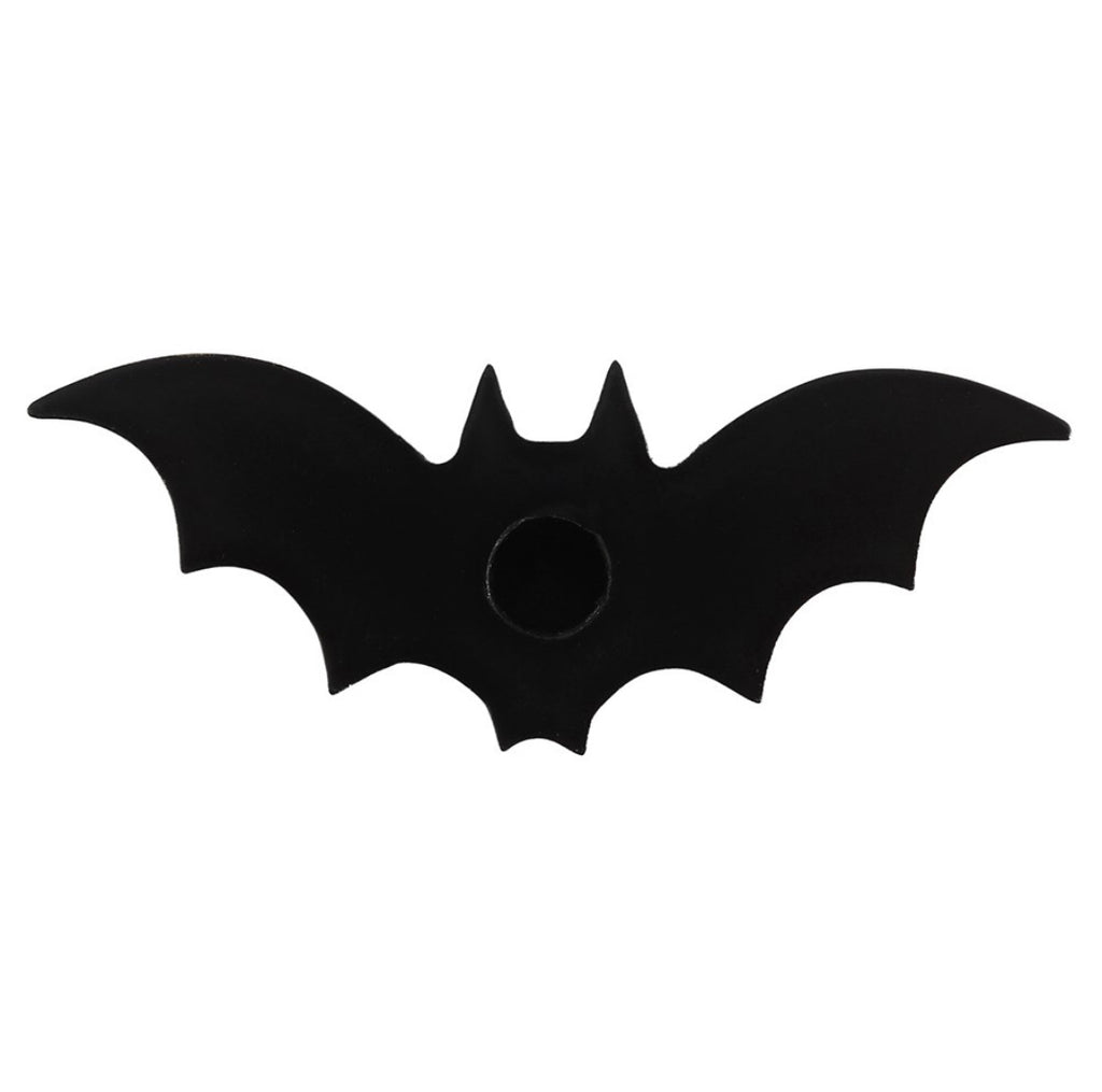 Black Bat Spell Candle Holder