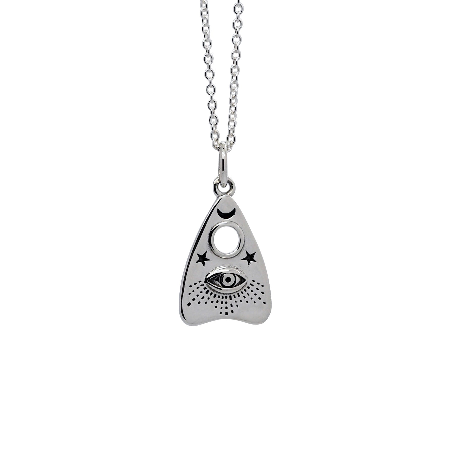 Sterling Silver Ouija Planchette Necklace