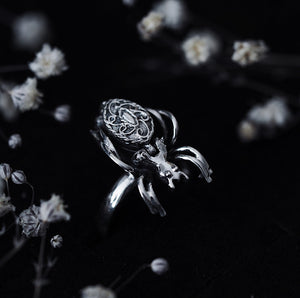 Sterling Silver Spider Poison Ring