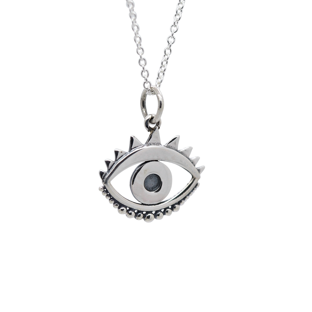 Sterling Silver Evil Eye Necklace