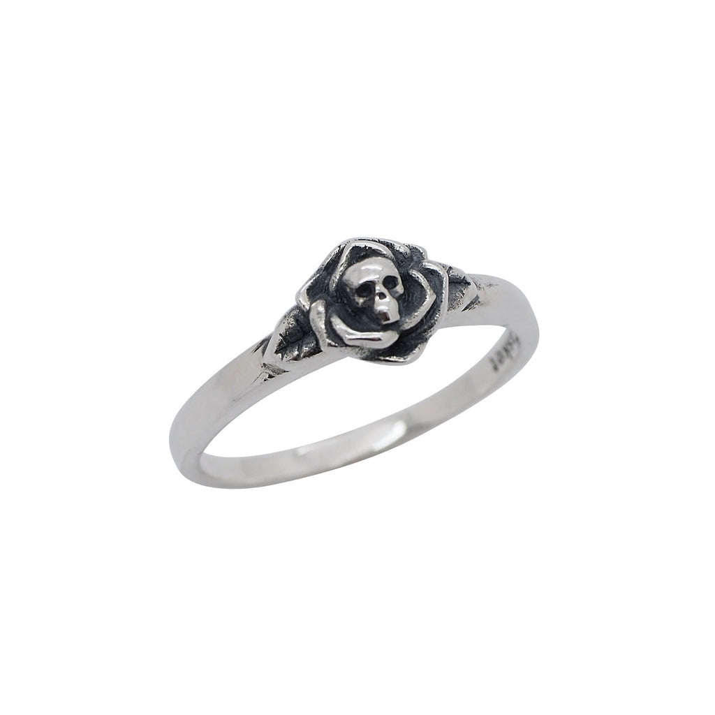 Sterling Silver Deathly Rose Ring