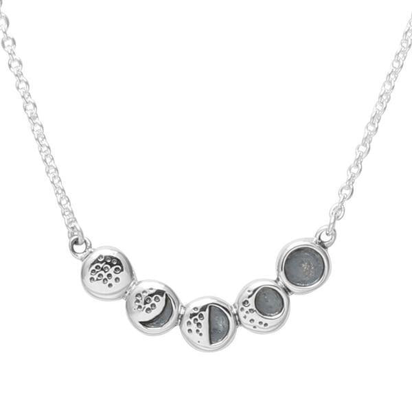 Sterling Silver Moon Phases Necklace