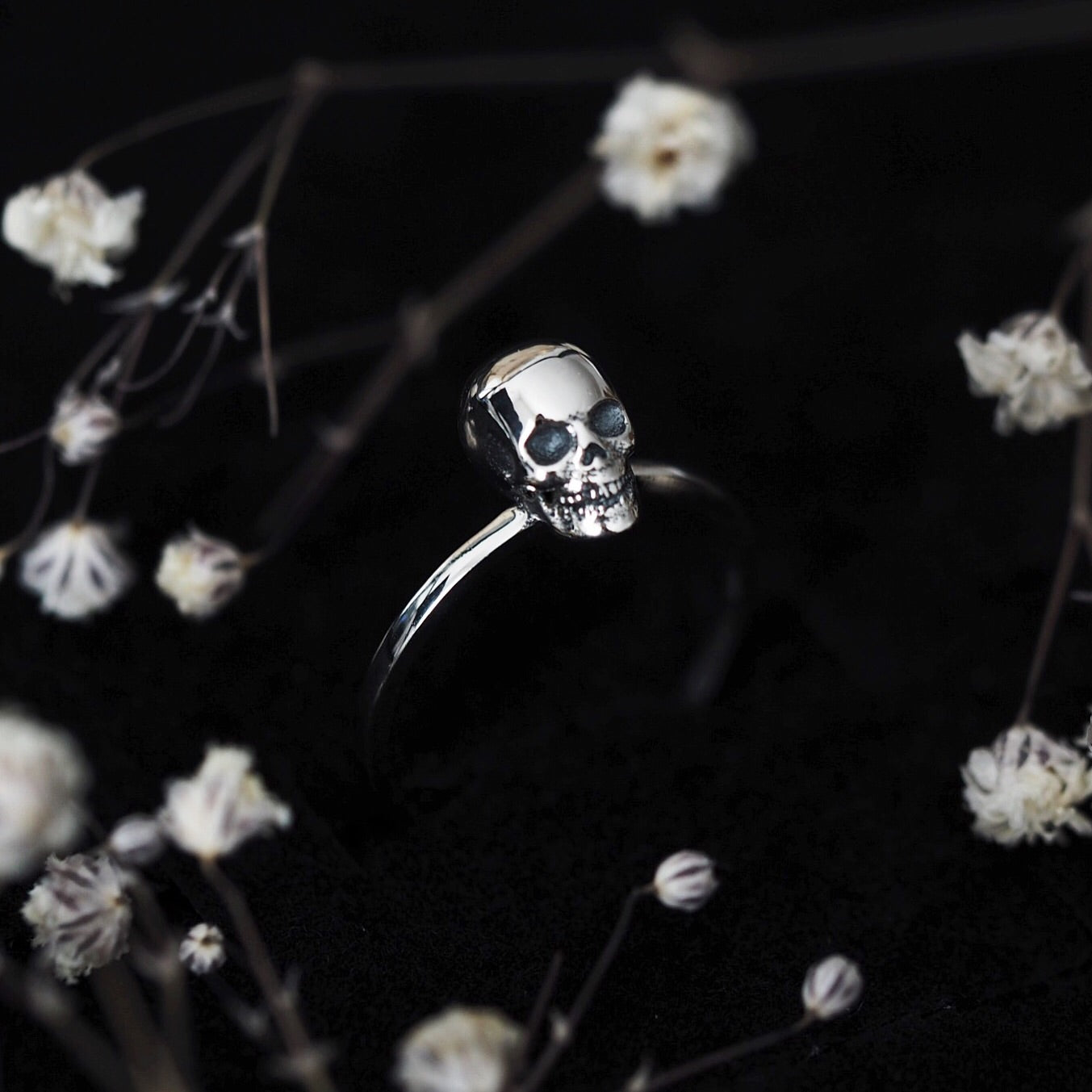 Sterling Silver Little Skull Ring