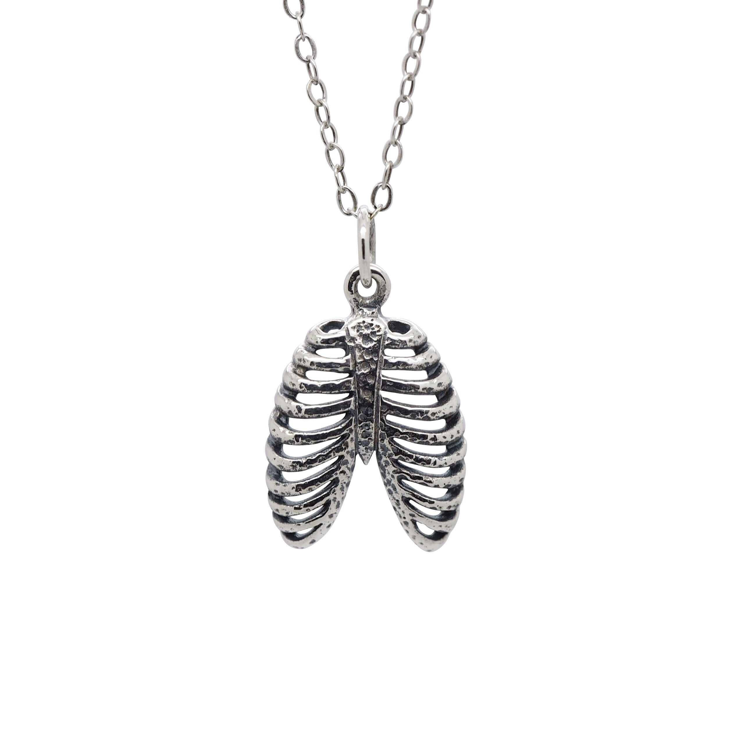 Sterling Silver Ribcage Necklace