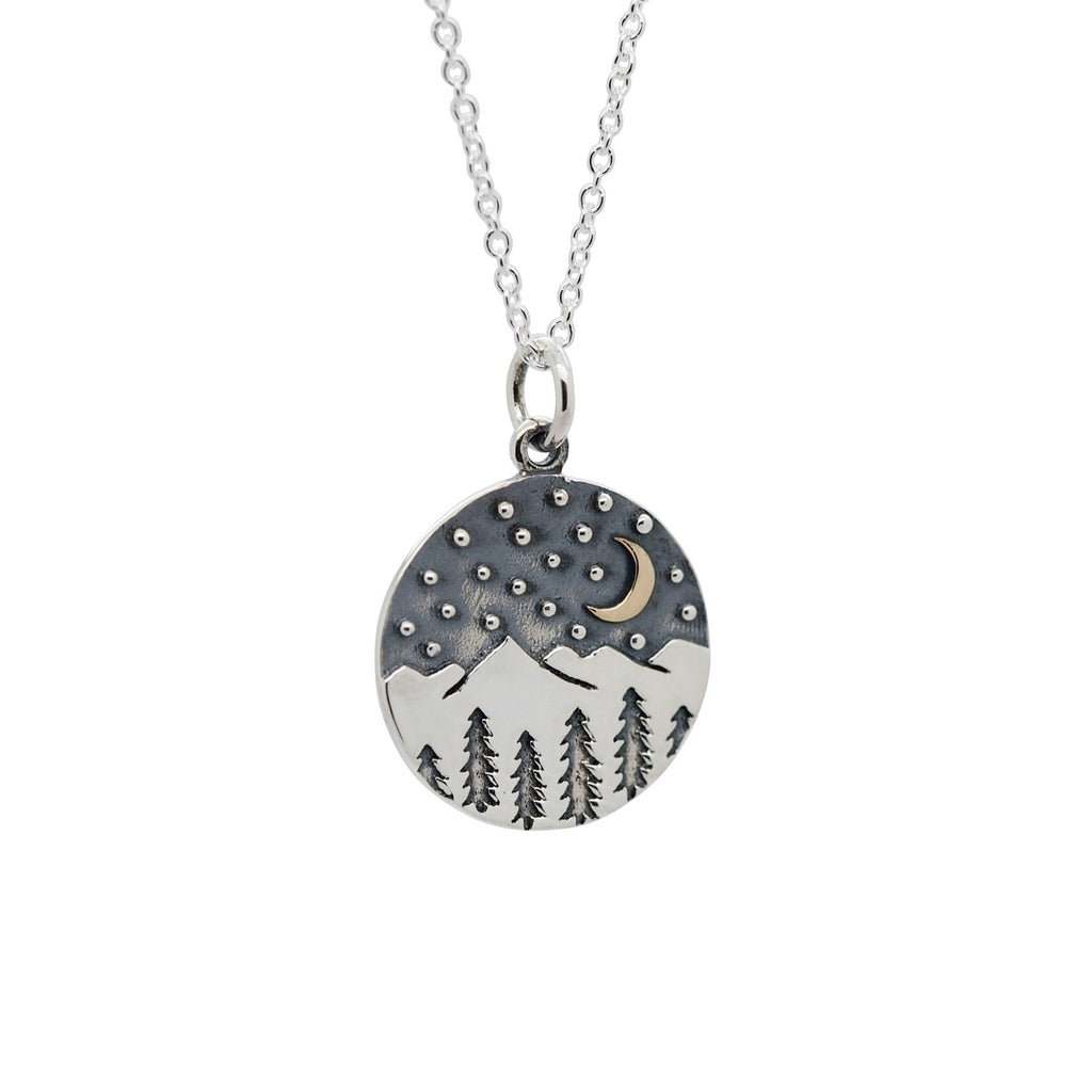 Sterling Silver Mystic Mountains Necklace