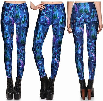 Blue Cat Leggings #L1271,RedOphelia.com