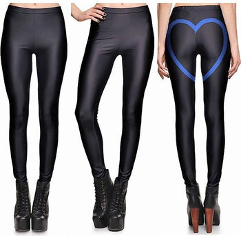 Blue Love Leggings #L1306,RedOphelia.com