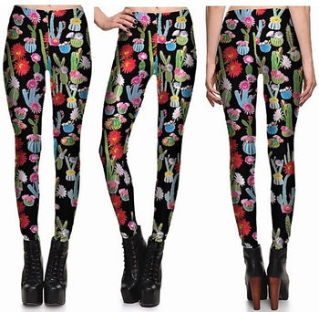 Cactus Leggings #L1255,RedOphelia Leggings