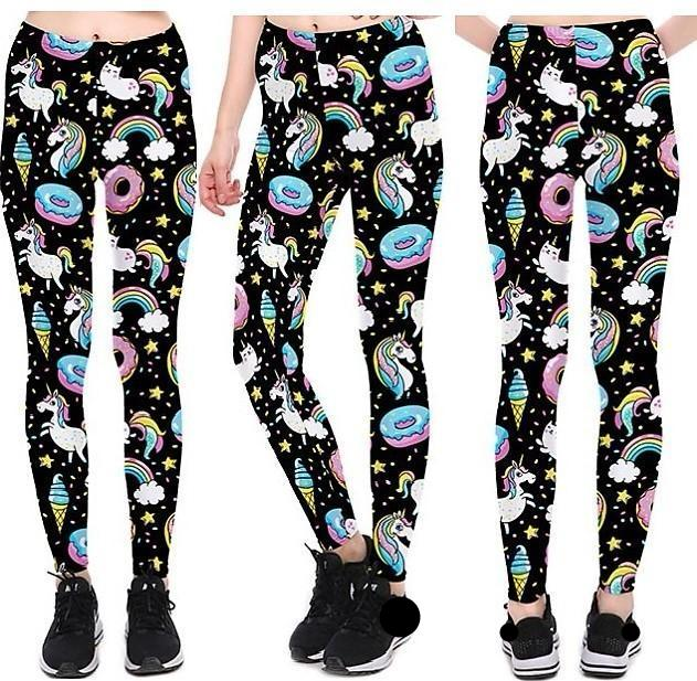 Cartoon Ice Cream Leggings #L1211,RedOphelia.com