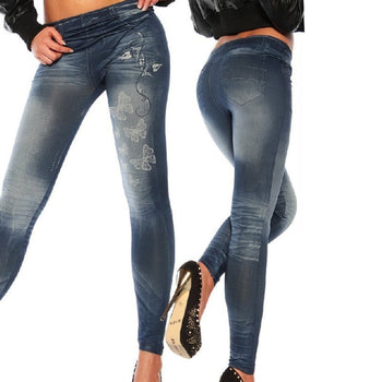 Classic Stretchy Slim Leggings Sexy Women Jean Skinny Jeggings Skinny Pants,RedOphelia Leggings