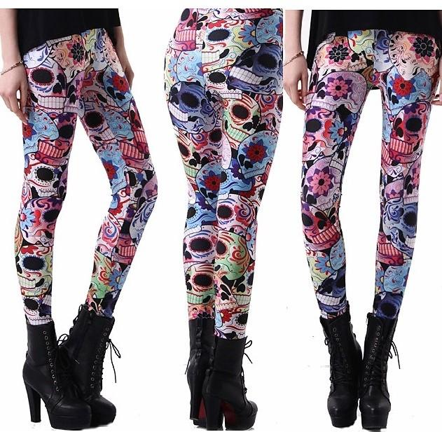 Day of the Dead Leggings #L1238,RedOphelia.com