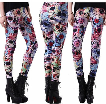 Day of the Dead Leggings #L1238,RedOphelia Leggings