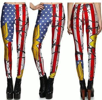 Dirty American Flag Leggings #L1209,RedOphelia Leggings
