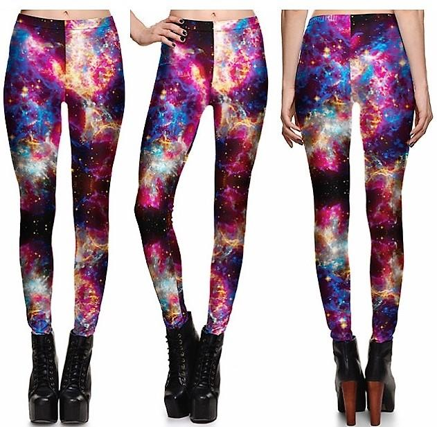 Electric Galaxy Leggings #L1304,RedOphelia.com