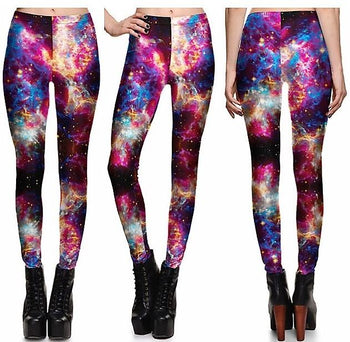 Electric Galaxy Leggings #L1304,RedOphelia Leggings