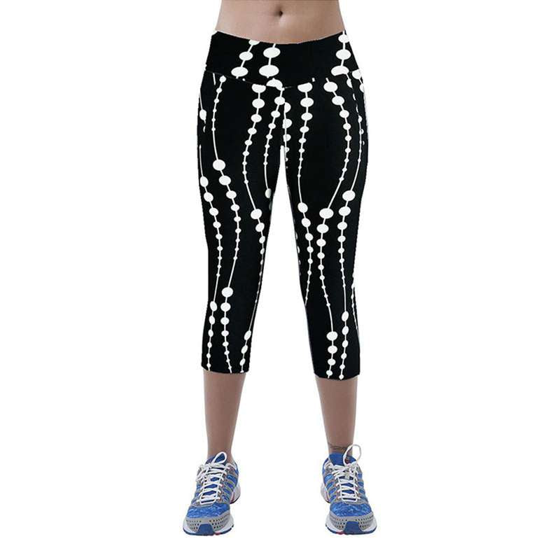 Exercise Clothing For Women Mid Waist Fitness Calzas Mujer Leggins Printed Stretch Cropped Leggings Ropa Deportiva Mujer #OR,RedOphelia.com