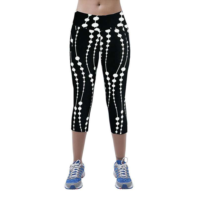 Exercise Clothing For Women Mid Waist Fitness Calzas Mujer Leggins Printed Stretch Cropped Leggings Ropa Deportiva Mujer #OR,RedOphelia Leggings