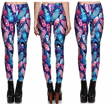 Feathers Leggings #L1281,RedOphelia Leggings