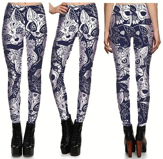 Fox Leggings #L1203,RedOphelia Leggings