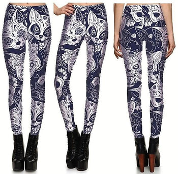 Fox Leggings #L1203,RedOphelia.com