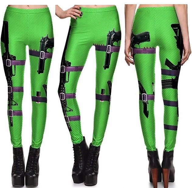 Green-Black Leggings #L1309,RedOphelia Leggings