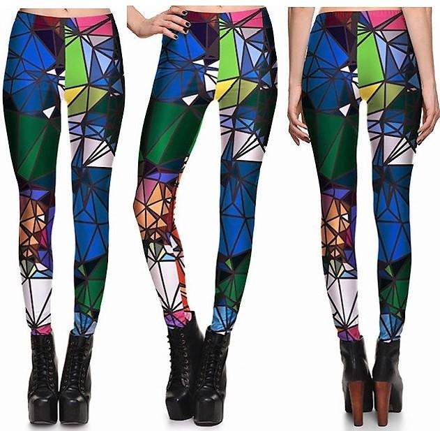 Green Diamond Leggings #L1202,RedOphelia Leggings