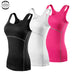 New Yoga Tops Women Sexy Gym Sportswear Vest Fitness tight woman clothing Sleeveless Running shirt Quick Dry White Yoga Tank Top,RedOphelia Leggings