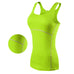 New Yoga Tops Women Sexy Gym Sportswear Vest Fitness tight woman clothing Sleeveless Running shirt Quick Dry White Yoga Tank Top,RedOphelia.com