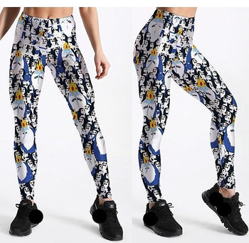 Penguins and Sharks Leggings,RedOphelia.com