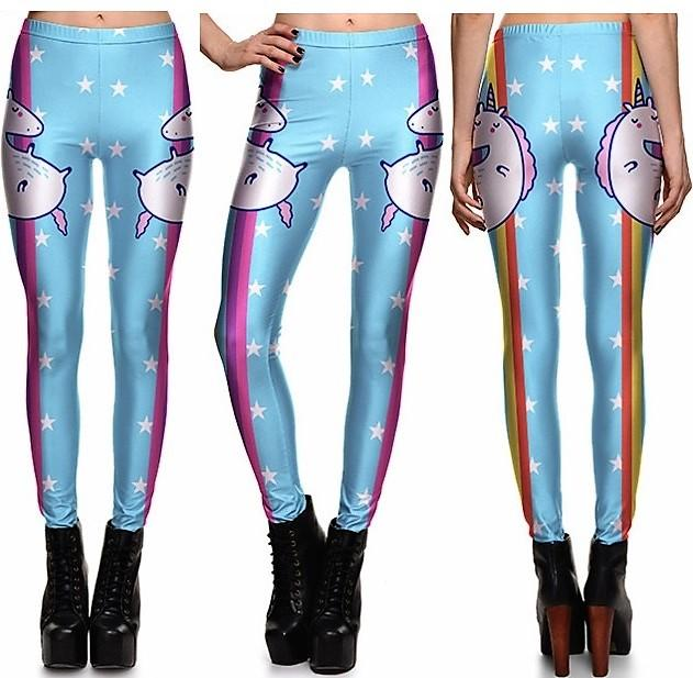 Rainbow Cartoon Leggings #L1285,RedOphelia Leggings