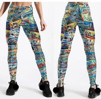 Super Comics Magazine Leggings,RedOphelia.com